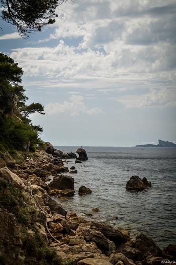 Rochers en Méditerranée